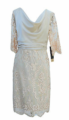 Fiducioso New Linea Raffaelli Mother Of The Bride Dress Lace Old Oro D 40 It 46-mostra Il Titolo Originale