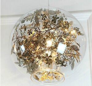 Image Is Loading Artecnica Tangel Globe Flower Light Pendant Lamp Chandelier