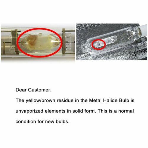iPower 1000w Watt Double Ended Metal Halide Lamp MH Grow Light Bulb