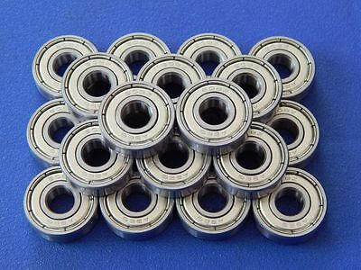 20 Stück 608 ZZ (2Z) 8x22x7 mm Kugellager  Rillenkugellager Miniatur