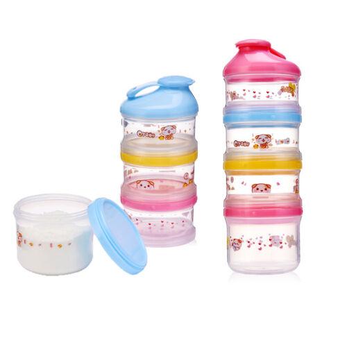 4 Schichten Baby abnehmbare Milchpulver Cartoon Box Snack Container für