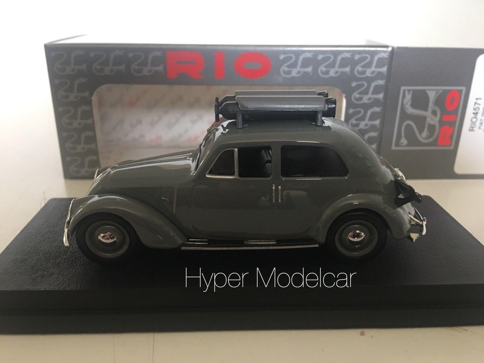 RIO- MODELS 1/43 Fiat 6C 6C 6C 1500 Gasogeno 1935 Grey Art. RIO4571 | Merveilleux  f7742f