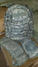 US Army Military MOLLE II ACU Medium Rucksack with Frame and Knee Pads