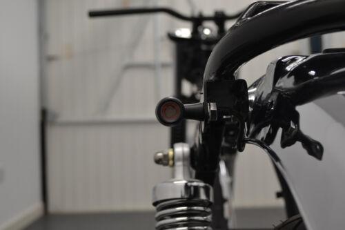 LED Indicators Blinkers Turn Signals for Triumph Bonneville BLACK Mini Bullet
