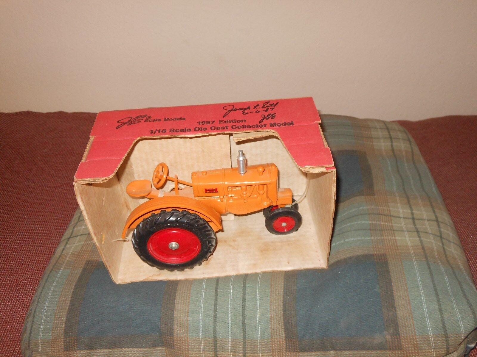 Minneapolis moline partnerstadt schmal - spielzeug traktor (weiß, oliver) new in box