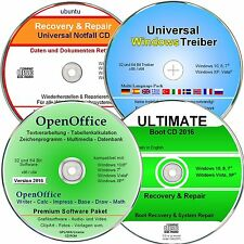 Software Paket Windows 10, 8, 7, XP - Treiber DVD, Büro Software, Daten Rettung
