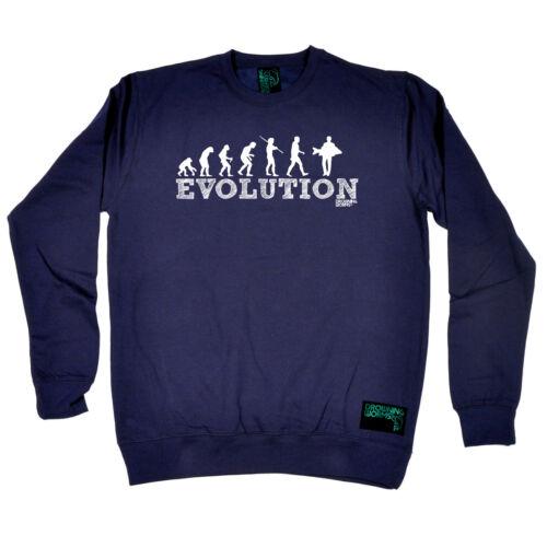 Fishing Sweatshirt Funny Novelty Jumper Top Evolution Carp Fish