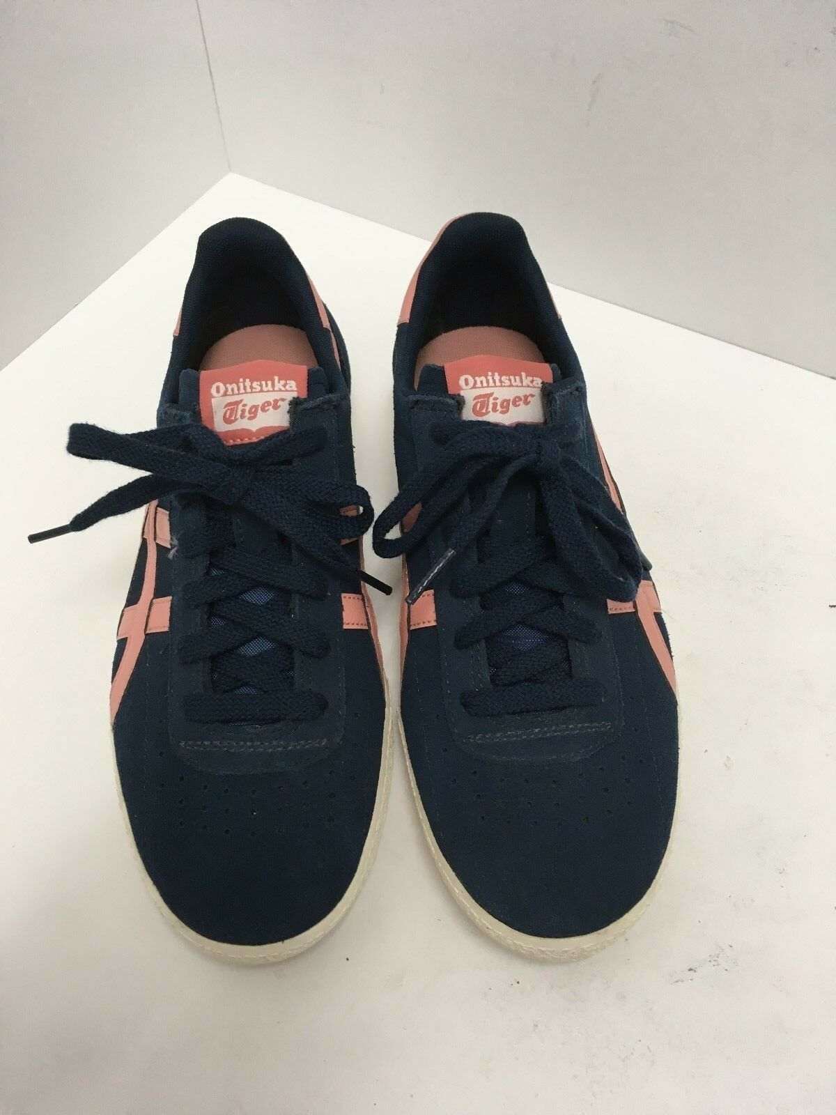 Asics Onitsuka Tiger Stripes Navy/Mauve Soccer Shoe Men's Comfortable The latest discount shoes for men and women