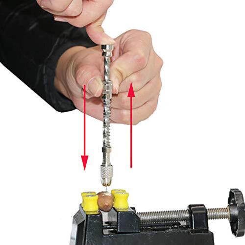 Push Drill Twist Spiral Craft Drilling Hole Mini Hand Semi-automatic Drill MP