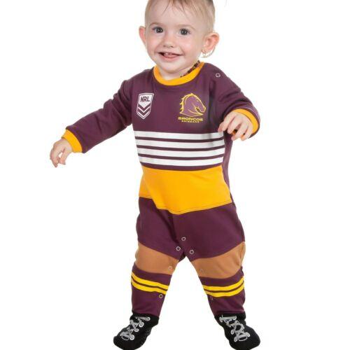 NRL Brisbane Broncos 2019 Baby Footysuit Sizes 000-1 Romper