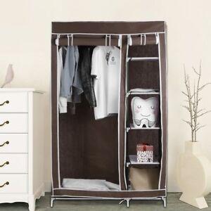 "69"" Portable Closet Organizer Storage Wardrobe Clothes Rack Shelves Shoe Rack AS"