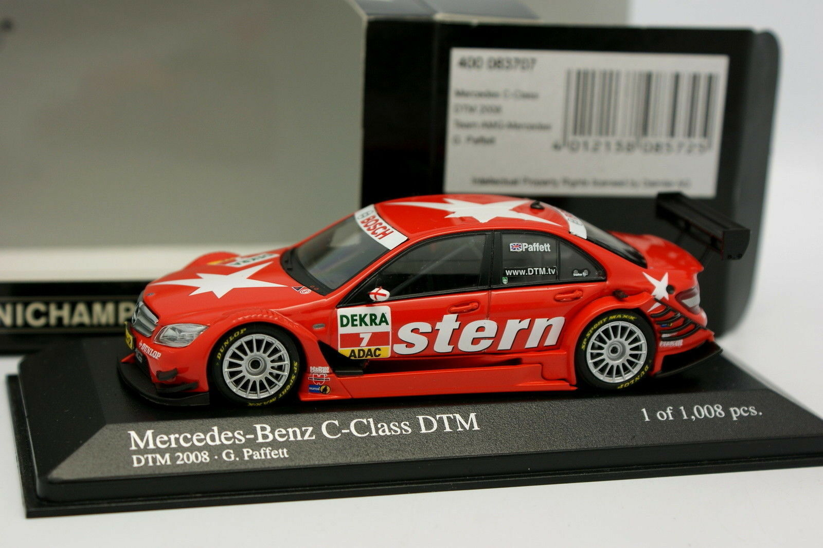 Minichamps 1 43 - Mercedes Classe C DTM 2008 Paffet