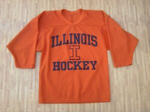 new arrival ba21a cdb6d Illinois Hockey CCM Practice Orange Hockey Jersey ~ Youth S ...