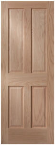 4 Panel Craftsman Raised Panel Red Oak Stain Grade Solid Core Interior Doors Ebay