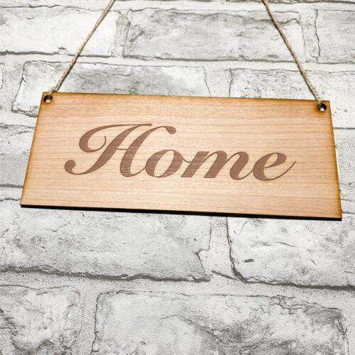 EN BOIS SIGNE Home 25 cm x 10 cm Home Decor signes en bois Signe Maison Signe Shabby Chic