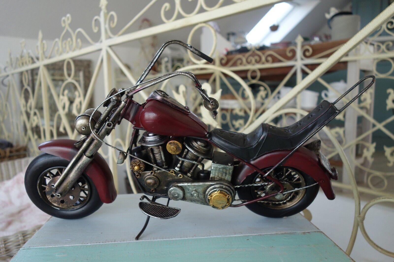 Nostalgie Motorrad Schopper Blechfahrzeug Dekoration Retro-Stil 24x 41 x12cm NEU