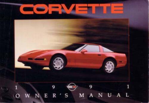1991 Chevrolet Corvette Owners Manual User Guide