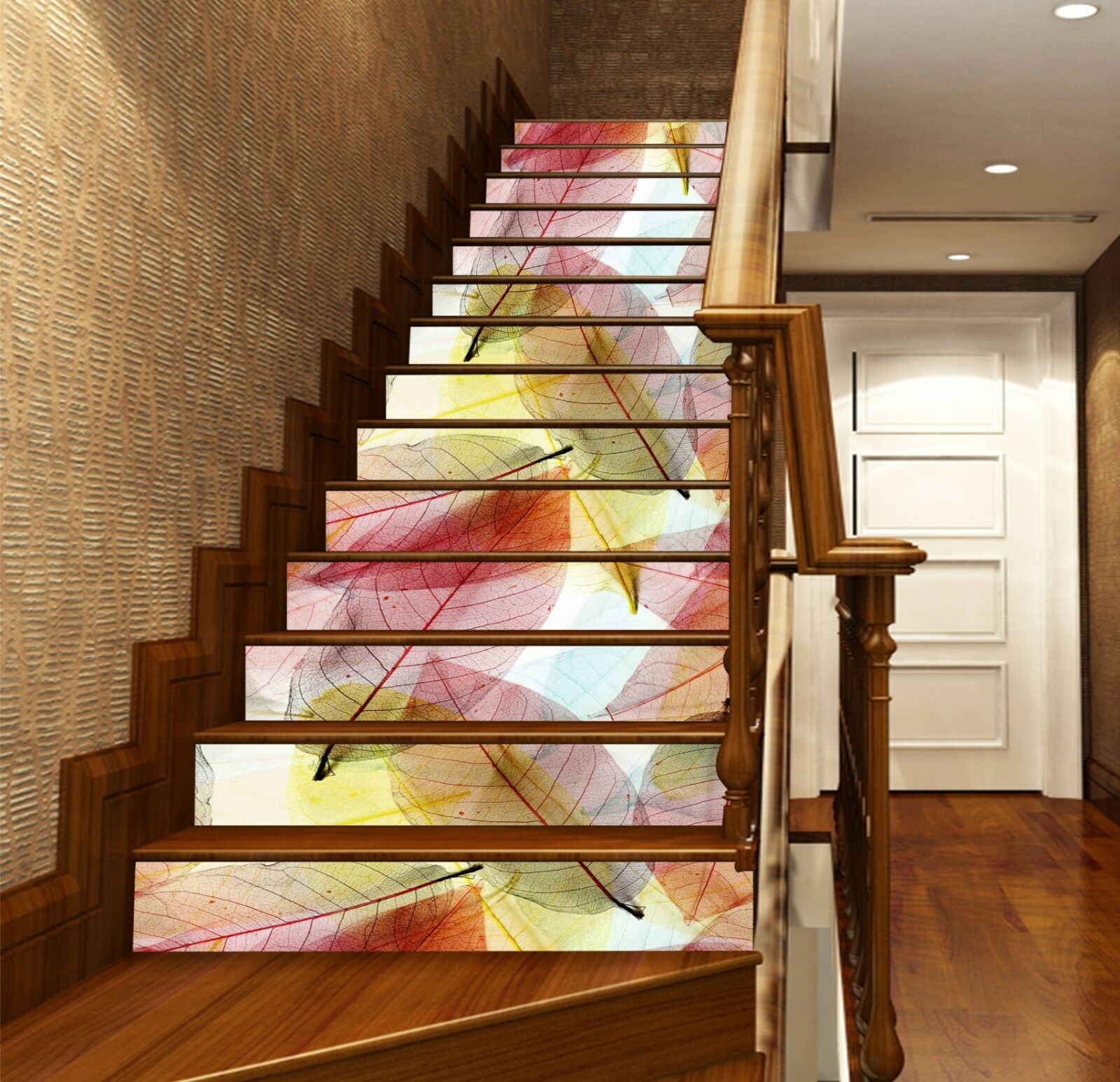 3D rot leaf 38 Stair Risers Decoration Photo Mural Vinyl Decal Wallpaper UK