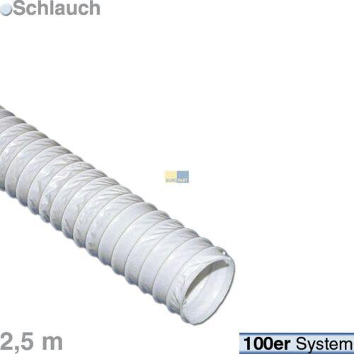 Nouveau mode d/'évacuation tuyau ø100mm pvc stahlspiral universel 2,5 M sèche-linge hotte