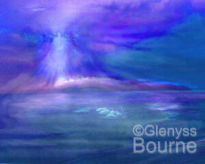 Dolphin-Dreaming-Spiritual-CANVAS-Guardian-Angel-Art-Painting-by-Glenyss-Bourne