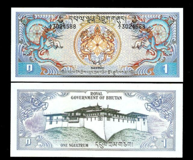 Bhutan 1 Ngultrum P5 1981 A 1 Dragon Large Unc Saarc Money Bill Note For Sale Online Ebay