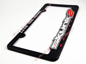 """Skunk2 /""""Go Faster/"""" License Plate Frame Authentic"""