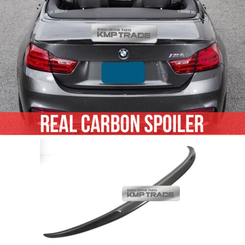 4Series F33 Convertible Real Carbon Fiber Rear Trunk Spoiler Vtype For BMW 2014