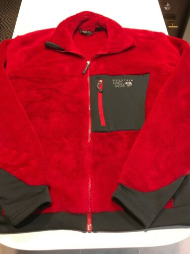 Mountain Hardwear Monkey Fleece Zip Jacket Red L O
