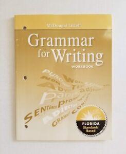 Details about McDougal Littell Grammar for Writing Workbook Grade 11 -  Florida Standards Based