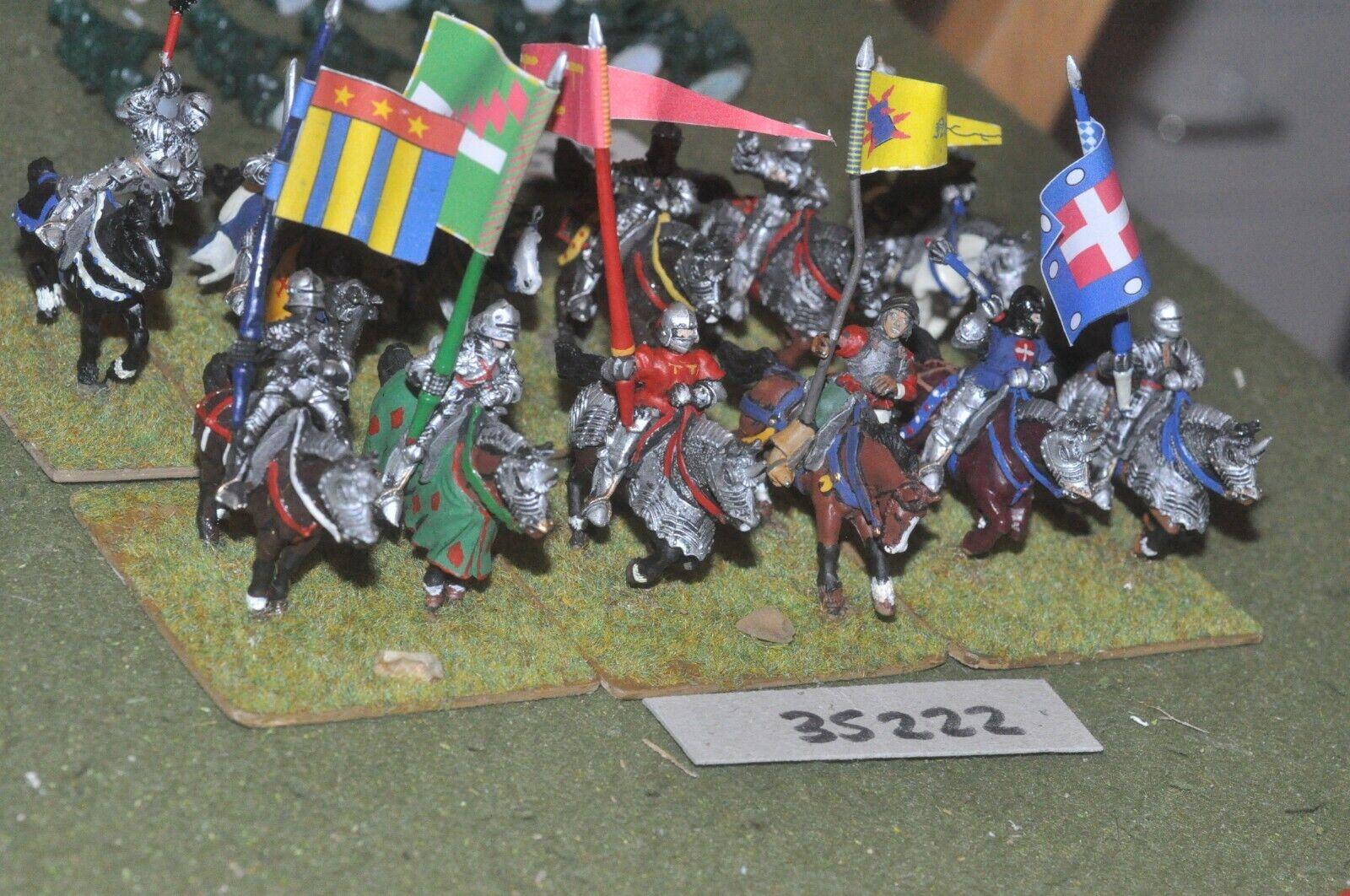 25mm medieval   burgundian - men at arms 12 figures - cav (35222)