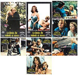 LA DONNA CHE VIOLENTO' SE STESSA FOTOBUSTE 6+2 SOGG RUTGER HAUER 1974 LOBBY CARD