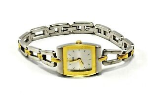 Timex-M0-Ladies-Silver-Gold-Tone-Quartz-Watch-New-Battery