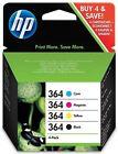 Ink Cartridges Set of 4 for HP Photosmart 7510 7510e