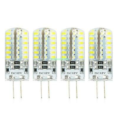 4pcs G4 3014SMD 5W 48 LED Crystal Lamp Light Bulb Chandelier 12V DC Cool White