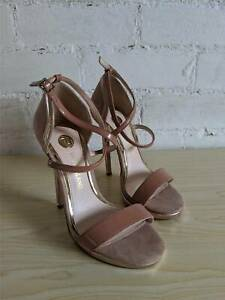River-Island-Blush-amp-Rose-Gold-Strappy-High-Heels-Shoes-Sandals-Size-UK-3-36