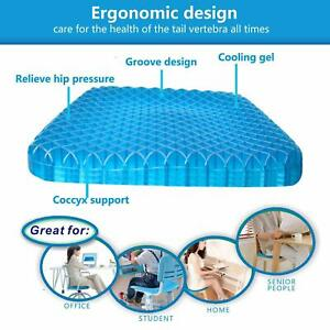 Details About Ultra Soft Gel Seat Cushion Self Cooling Office Car Seat Cushion 3d Ice Pad
