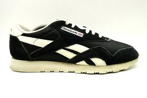 reebok classic black leather lace up casual athletic