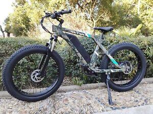 "Electric Bike 26"" 4.0 Fat Tire Beach Road Snow City 48V 750W 13AH E Bicycle CAM"