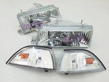 Headlights Headlamps for Corolla AE92 AE93 AE94 E90 EE90 sedan CL 89-92 lu#G
