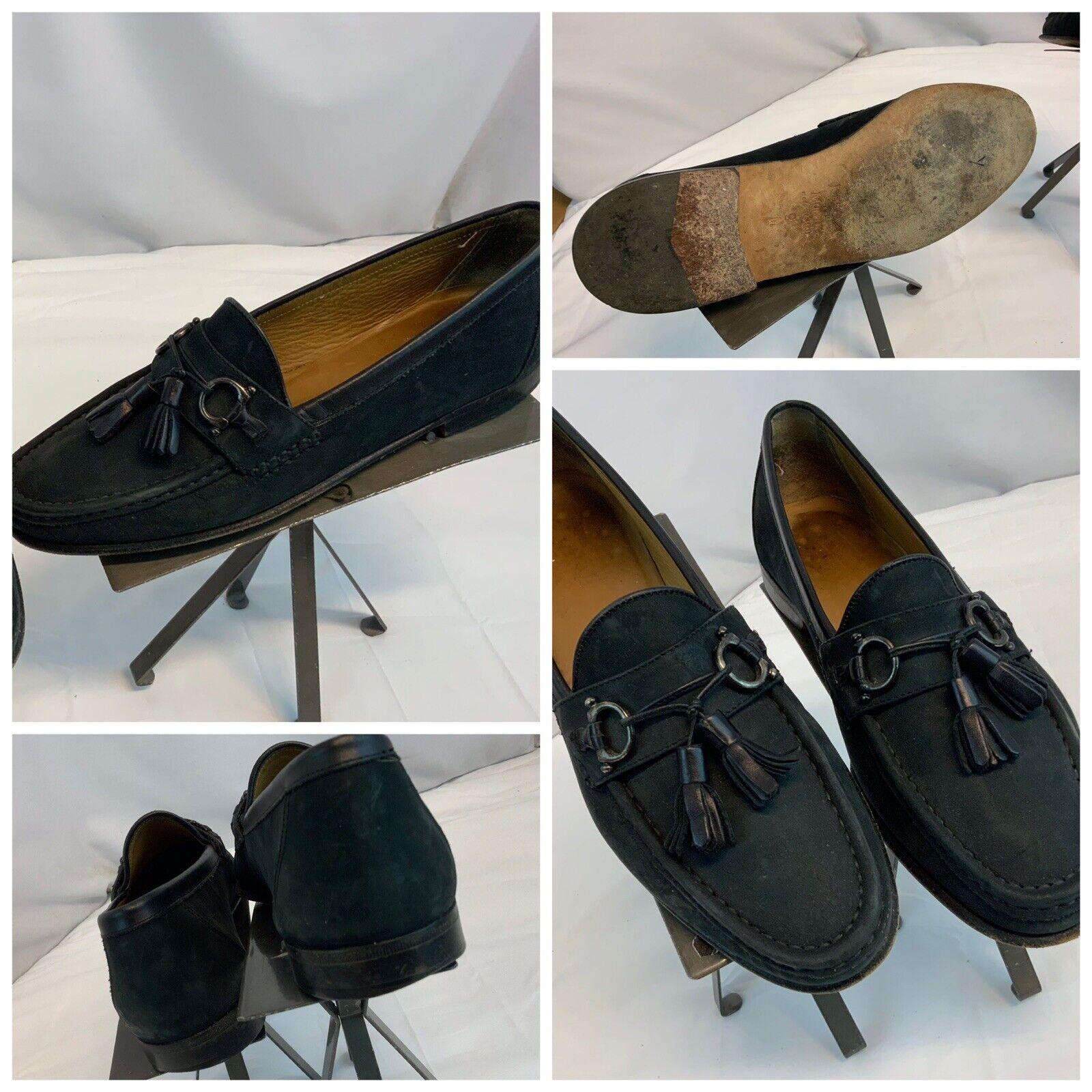 Johnston Murphy Domani Tassel Loafers Shoes Sz 9 Men Black Italy YGI H0S-42