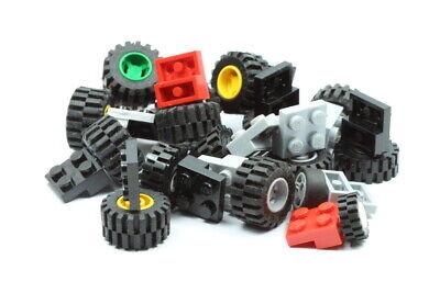 Lego 50x Technik Räder Reifen Achsen Felgen Konvolut bunt gemischt