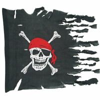 Weathered Pirate Flag Party Accessory (1 Count) (1/pkg) , New, Free Shipping