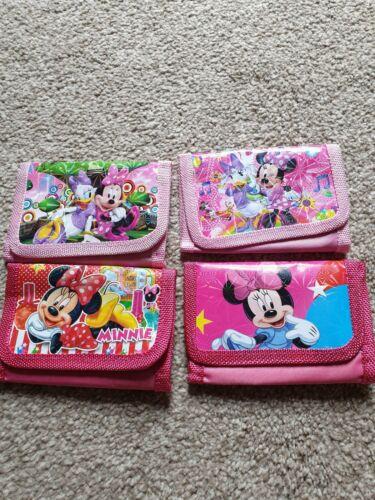 Disney minnie mouse character wallet toy zip wallet girls kids cartoon