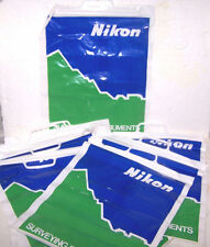 Nikon Plastic Bags Lot 10 Large Snap Close Store Gift Carry Out Disposable New