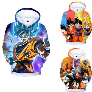 Dragon Ball Boys Girls Kids Spring Sweatshirt Hoodie Pullover Printing Clothing