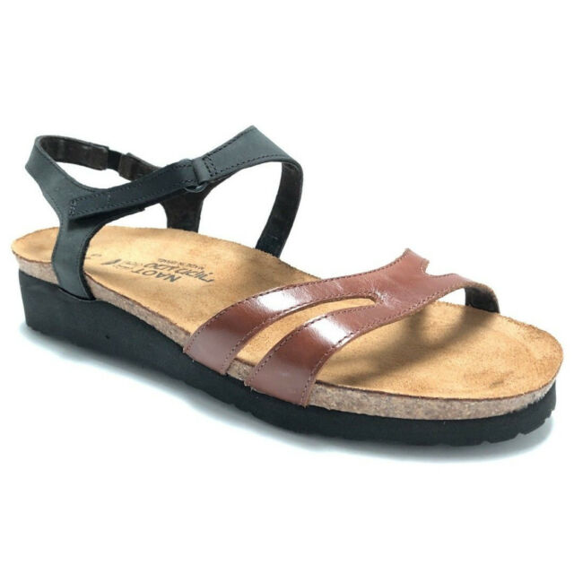 74b1e7e8e2a4 Naot Janis Womens Sandals Ankle Straps Adjustable Slip Ons Shoes Brown Size  9 40