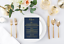 Wedding Menu //// custom wedding //// gold and navy //// gold menu/'s //// gold wedding