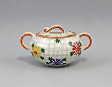 Keramik Zuckerdose Schramberg Netzmuster mit Blüten 99845291