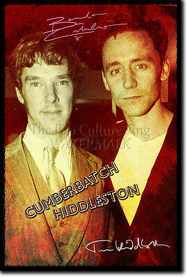 BENEDICT CUMBERBATCH TOM HIDDLESTON ART PHOTO PRINT 2 POSTER