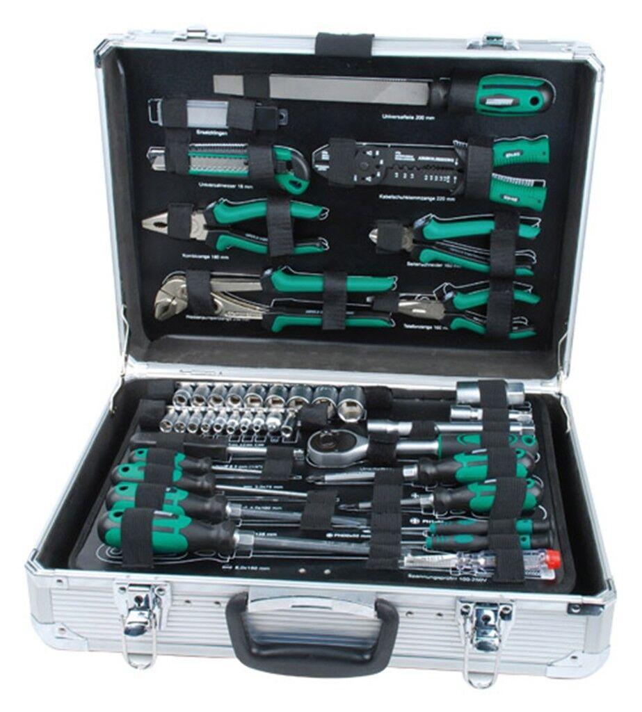Brüder MANNESMANN Aluminium Werkzeugkoffer 108tlg Werkzeugsatz Werkzeugkasten